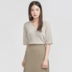 feminine mood half sleeve knit_(693761)