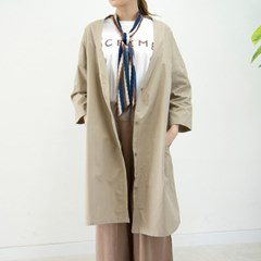 P5119 브이넥 와이드 면 코트