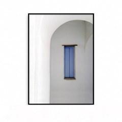 패브릭포스터 인테리어 액자 지중해 풍경 블루 윈도우