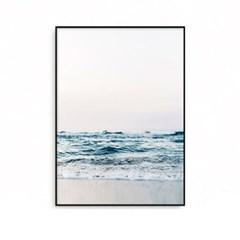 패브릭포스터 인테리어액자 여름 풍경 파도