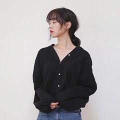 china neck button blouse