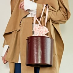 ALICE PEARL BUCKET BAG_BURGUNDY