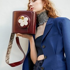 JACQUELINE FLOWER SHOULDER BAG_BURGUNDY
