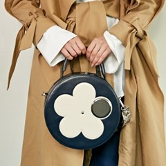 CAMILLA FLOWER CIRCLE BAG_NAVY