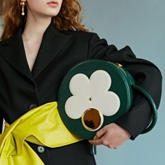 CAMILLA FLOWER CIRCLE BAG_GREEN
