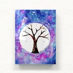 우주속의 나무 아크릴 일러스트 그림액자by이그린(272043)