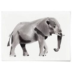 패브릭 천 포스터 F065 동물 그림 코끼리 수채화