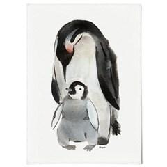 패브릭 천 포스터 F064 동물 벽걸이 펭귄 수채화