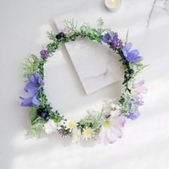 하늘하늘 코스모스 들꽃화관_(515916)