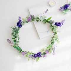 라벤더 허브 들꽃화관_(515898)