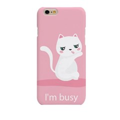 I'm busy Cat (HA-049B) Hard Case