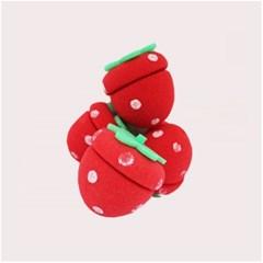 딸기 헤어롤 4P