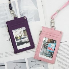 DOROTHY & ALICE 목걸이 카드 케이스 지퍼