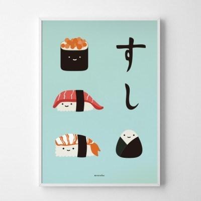일본 인테리어 디자인 포스터 M 초밥 스시 일본소품