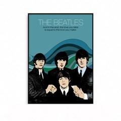 비틀즈 뮤지션 음악 인테리어 포스터 액자