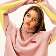 [AW17 Pink Panther] PP Turtleneck Knit(Pink)