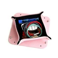 가죽 트레이S,10x10cm(핑크+블랙)P90613