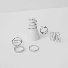 silver mix 6set ring