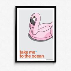 FPC 인테리어 아트 포스터 액자 Take me to the ocean