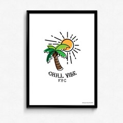 FPC 인테리어 아트 포스터 액자 Chill vibe
