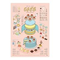 인포그래픽 포스터 - 케이크