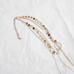 3line ring necklace