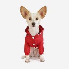 강아지 바람막이 - 레드