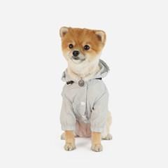 강아지 바람막이 - 그레이