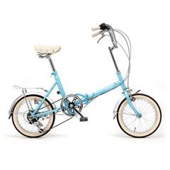 시티즈 접이식 미니벨로 16인치 클래식자전거 Bell Blue