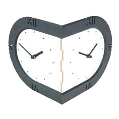 라운드코너시계(화이트&블랙)