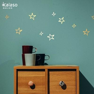 반짝별 손그림 포인트스티커 외 (별,물방울,하트) 월데코