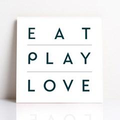 [액자 플레이트]EAT PLAY LOVE