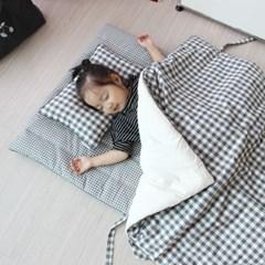 내츄럴 그레이 체크 낮잠이불세트