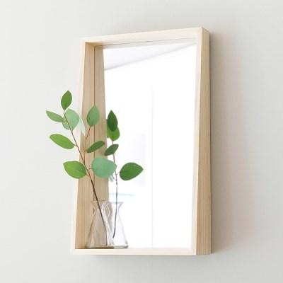 심플 원목 선반 거울
