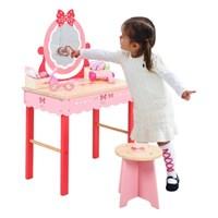 원목장난감 핑크화장대+미용실놀이15종