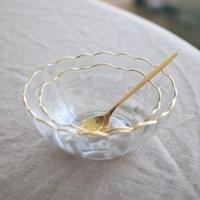 Gold edge flower bowl (2size)