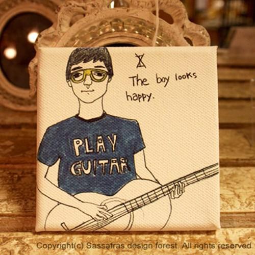 기타치는 소년