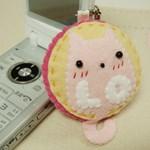 러브캣 커플 휴대폰줄-핑크