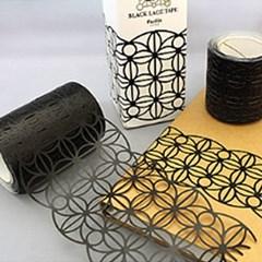 Pavilio 리미티드 에디션 방수 테이프 (골드,블랙,레드 레이스 75mm)