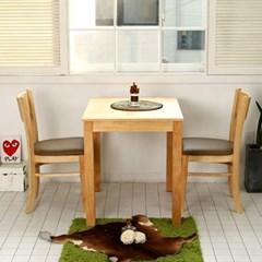 모쿠 2인용 원목 식탁세트(의자2개)