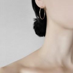 14K 데일리 후프 링 귀걸이 (3cm)