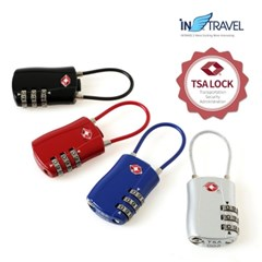 인트래블 여행용품/자물쇠/TSA와이어형자물쇠 NO.1284