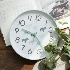 북유럽 라운드 저소음벽시계(민트)_(1429773)
