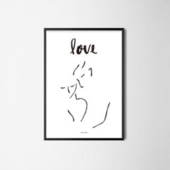 미니멀 인테리어 디자인 포스터 M 드로잉연인4 러브