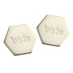 HEXAGON PIN BUTTON SET GOLD
