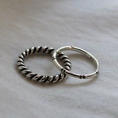 볼드 꼬임 세트 반지 bold twist set ring