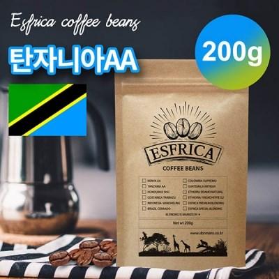 200g 에스프리카 탄자니아AA 당일 로스팅 원두/도르만스코리아