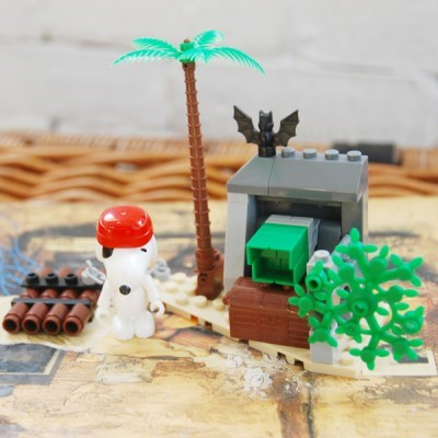 피넛츠(스누피) 블록 Fierce Pirate 보물섬