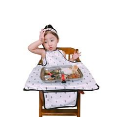 아기, 유아식탁의자 방수턱받이 쁘띠리땅(면100% + TPU코팅)