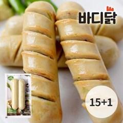 바디닭 매콤청양고추 닭가슴살 소시지 15+1팩 (100g)